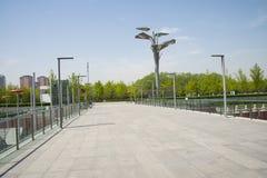 Chinese Asia, Beijing, Asia China, Beijing, Olympic Park, sinking, garden Royalty Free Stock Photos