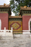 Chinese Asia, Beijing, Beihai Park, the ancient building, door hole Royalty Free Stock Image