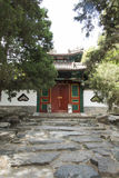 Chinese Asia, Beijing, Beihai Park, ancient building, door Stock Photos