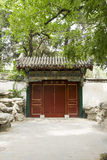 Chinese Asia, Beijing, Beihai Park, the ancient buildings, the gatehouse tower Stock Images