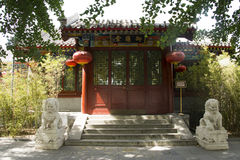Chinese Asia, Beijing, Beihai Park, ancient buildings, Temple Royalty Free Stock Images