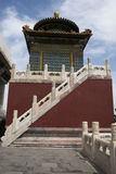 Chinese Asia, Beijing, Beihai Park, Baita, ShanyinTemple Stock Photography