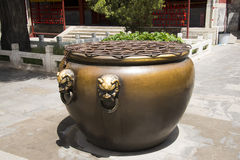Chinese Asia, Beijing, Beihai Park, copper cylinder Stock Images