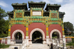 Chinese Asia, Beijing, Beihai Park, glazed workshop Royalty Free Stock Image