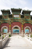 Chinese Asia, Beijing, Beihai Park, glazed workshop Stock Photography