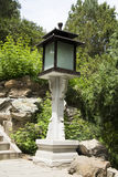 Chinese Asia, Beijing, Beihai Park, lamp  table Royalty Free Stock Photography