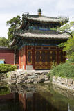Chinese Asia, Beijing, Beihai Park, the small West, Square Pavilion Stock Photo