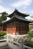 Chinese Asia, Beijing, Beihai Park, the small West, Square Pavilion Royalty Free Stock Image