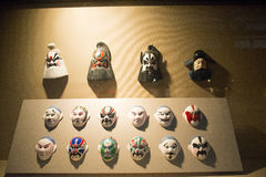 Chinese Asia, Beijing, the capital museum, opera mask Stock Photos