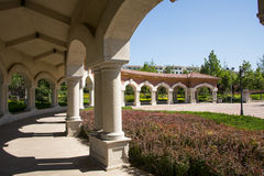 Chinese Asia, Beijing, Daxing Riverfront Park, European architecture Royalty Free Stock Images