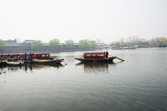 Chinese Asia, Beijing, the Shichahai scenic area, Sightseeing Boat Stock Images