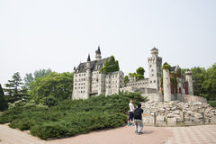 Chinese Asia, Beijing, the World Park,Miniature landscape, Neuschwanstein Castle in Germany Royalty Free Stock Images