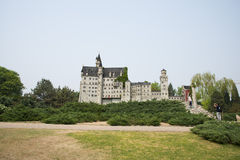 Chinese Asia, Beijing, the World Park,Miniature landscape, Neuschwanstein Castle in Germany Royalty Free Stock Photos