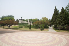 Chinese Asia, Beijing, the World Park,Miniature landscape, Neuschwanstein Castle in Germany Stock Photos