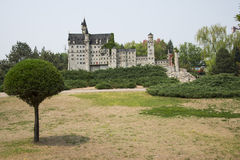 Chinese Asia, Beijing, the World Park,Miniature landscape, Neuschwanstein Castle in Germany Stock Images