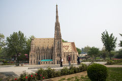 Chinese Asia, Beijing, the World Park,Miniature landscape, Stephen Church Stock Photography
