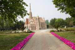 Chinese Asia, Beijing, the World Park,Miniature landscape, Stephen Church Royalty Free Stock Photography