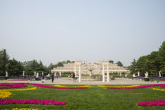 Chinese Asia, Beijing, the World Park,The gardening landscape,Miniature landscape, Miniature landscape, Italy terrace garden Royalty Free Stock Image