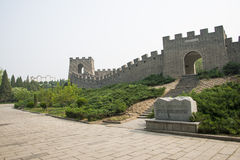 Chinese Asia, Beijing, the World Park,Miniature landscape, the Great Wall Royalty Free Stock Photos
