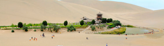 China Dunhuang Crescent Spring Stock Image
