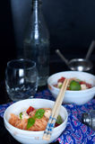 Chinese asian noodles stir fry with vegetables Royalty Free Stock Photos