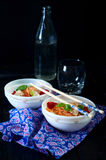 Chinese asian noodles stir fry with vegetables Stock Photos