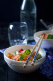 Chinese asian noodles stir fry with vegetables Royalty Free Stock Images