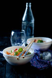 Chinese asian noodles stir fry with vegetables Stock Photography