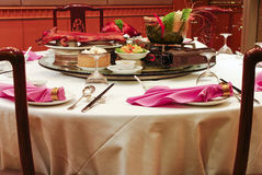 Chinese Asian restaurant set Royalty Free Stock Images