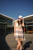 Chinese Asian Tourist Girl shopping 2 Stock Photos