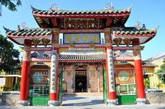 Chinese Assembly Hall. In Hoi An, Vietnam. Building Assembly Halls as a place to socialize for themselves and the next generations is a tradition of Chinese Royalty Free Stock Photo