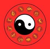 Chinese astrologie stock illustratie