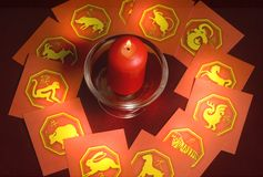 Chinese astrology stock photo