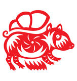 Chinese Astrology Pig Royalty Free Stock Image