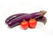 Chinese aubergine en tomaat Royalty-vrije Stock Fotografie