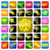Chinese Auspicious Cloud. A variety of Chinese Auspicious Cloud icons.Increased by Adobe Illustrator 10.0 Vector Format vector illustration