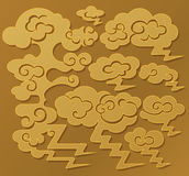 Chinese auspicious clouds pattern. Which usually symbolizes good luck, harmony and peace royalty free illustration
