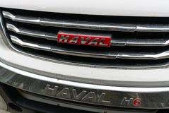 Chinese auto van het merk Haval modelh6 in de straat in China royalty-vrije stock afbeeldingen