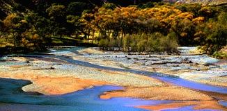 Chinese autumn scenery of Qilian Mountains. Here is Chinese Qilian Mountains West autumn scenery Stock Photo