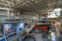 Chinese aviation museum. Is located in beijing, which is asia's largest aviation museum, is the world's top five aviation museum. this photo was taken inside royalty free stock photography
