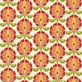 Chinese Aziatische naadloze vectorpatroonachtergrond Traditioneel ornament Stock Foto's