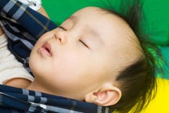 Chinese babny sleeping Stock Photos