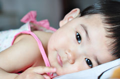 A chinese baby. With beautiful eyes Stock Images