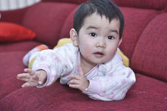 A chinese baby. Ask something Stock Images