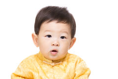 Chinese baby boy isolated. On white Stock Images