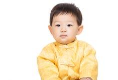 Chinese baby boy. Isolated on white Stock Photos