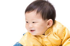 Chinese baby boy looking aside Royalty Free Stock Image