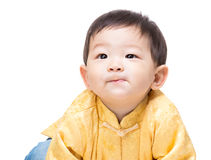 Chinese baby boy looking up Stock Image