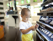 Chinese baby boy in the shopping mall Stock Image