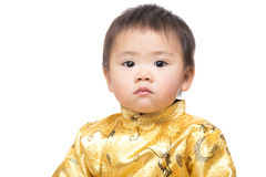 b6a9c6cf9 Chinese baby boy with traditional chinese costume. Isolated on white stock  photos